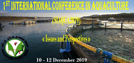 1er Séminaire International en Aquaculture 10-12 Décembre 2019